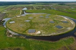 Low Frequency Array (LOFAR) telescopen kern in Nederland